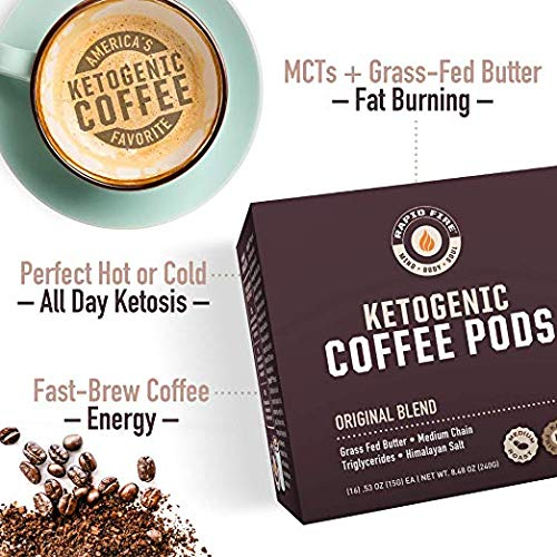 (Rapid Fire Ketogenic High Performance Keto Coffee Pods, 32 Single Serve Pods (2 Packs of 16))