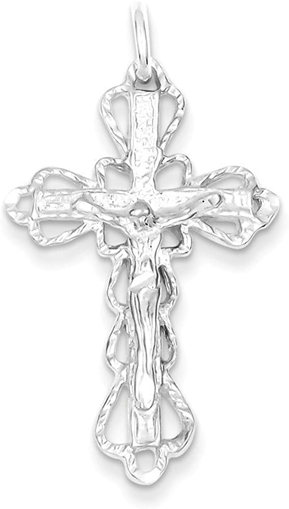 .925 Sterling Silver Crucifix Charm Pendant