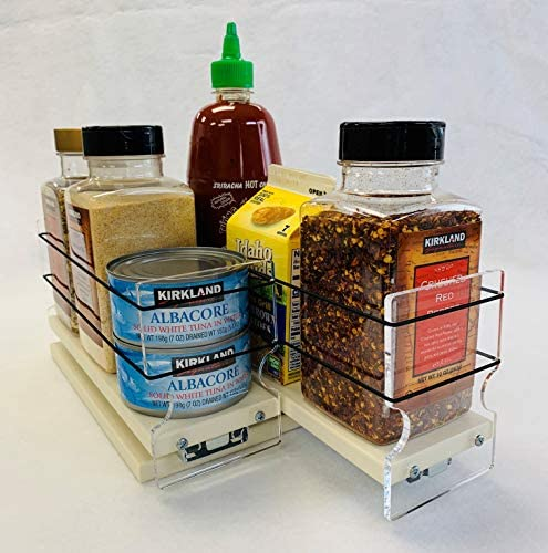 Vertical Spice – 33x1x11 DC – Spice Organizer – Cabinet Drawers for Large Containers