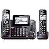 panasonic 2line phone - Panasonic KX-TG9542B Link2Cell Bluetooth Enabled 2-Line Phone with Answering Machine & 2 Cordless Handset