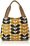 Orla Kiely Stem Check Print Classic Zip Shoulder Bag, Dandelion