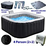Mspa Alpine M-009LS Inflatable Portable Hot Tub Outdoor Spa - 4 Seater