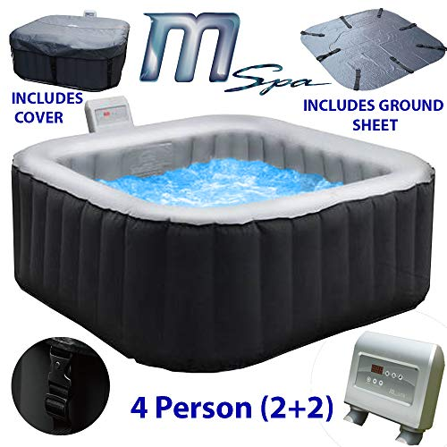 MSPA Alpine M-009LS Inflatable Portable Hot Tub Outdoor Spa-4 Seater