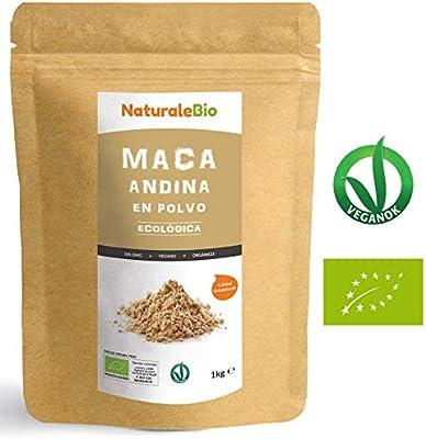 Maca Andina Ecológica en Polvo [ Gelatinizada ] 1 kg | Organic Maca Powder Gelatinized. 100% Peruana, Bio y Pura, extracto de raíz de Maca Organica.