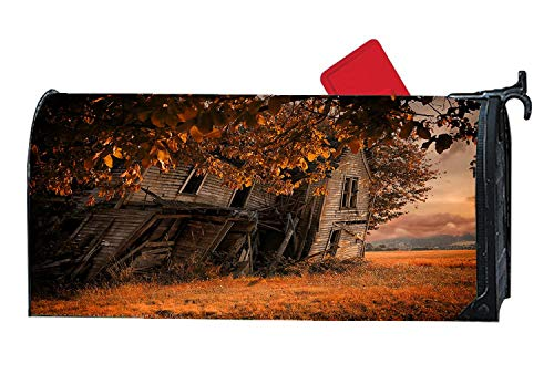 Fall Foliage Tree & House Autumn Mailbox Covers Magnetic and Vinyl Home Garden Mailbox Wraps Mail Cover Letter Post Box Standard Sized 6.5 x 19 inches