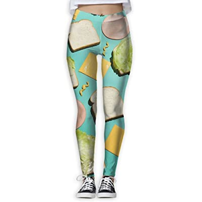 2018 Composition Of Sandwiches Women's Printed Sports Pants Yoga Pants Fitness Jogging Pants