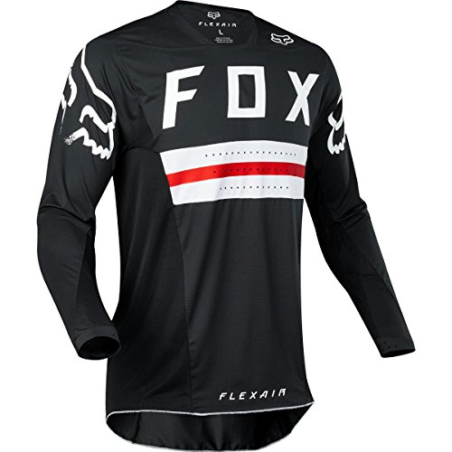 Flexair Jerseys (Fox Racing Flexair Preest Limited Edition Men's MX Motorcycle Jerseys - Black/Red / Medium)