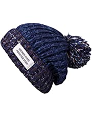 YSense 2-delige wintermuts dames winter muts gebreide muts Warme Slouch Beanie met fleece binnenvoering MEHRWEG