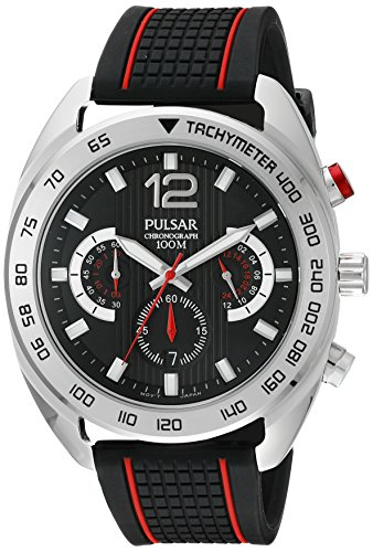Pulsar Analog Wrist Watch (Pulsar Men's PT3633 Chronograph Analog Display Japanese Quartz Black Watch)