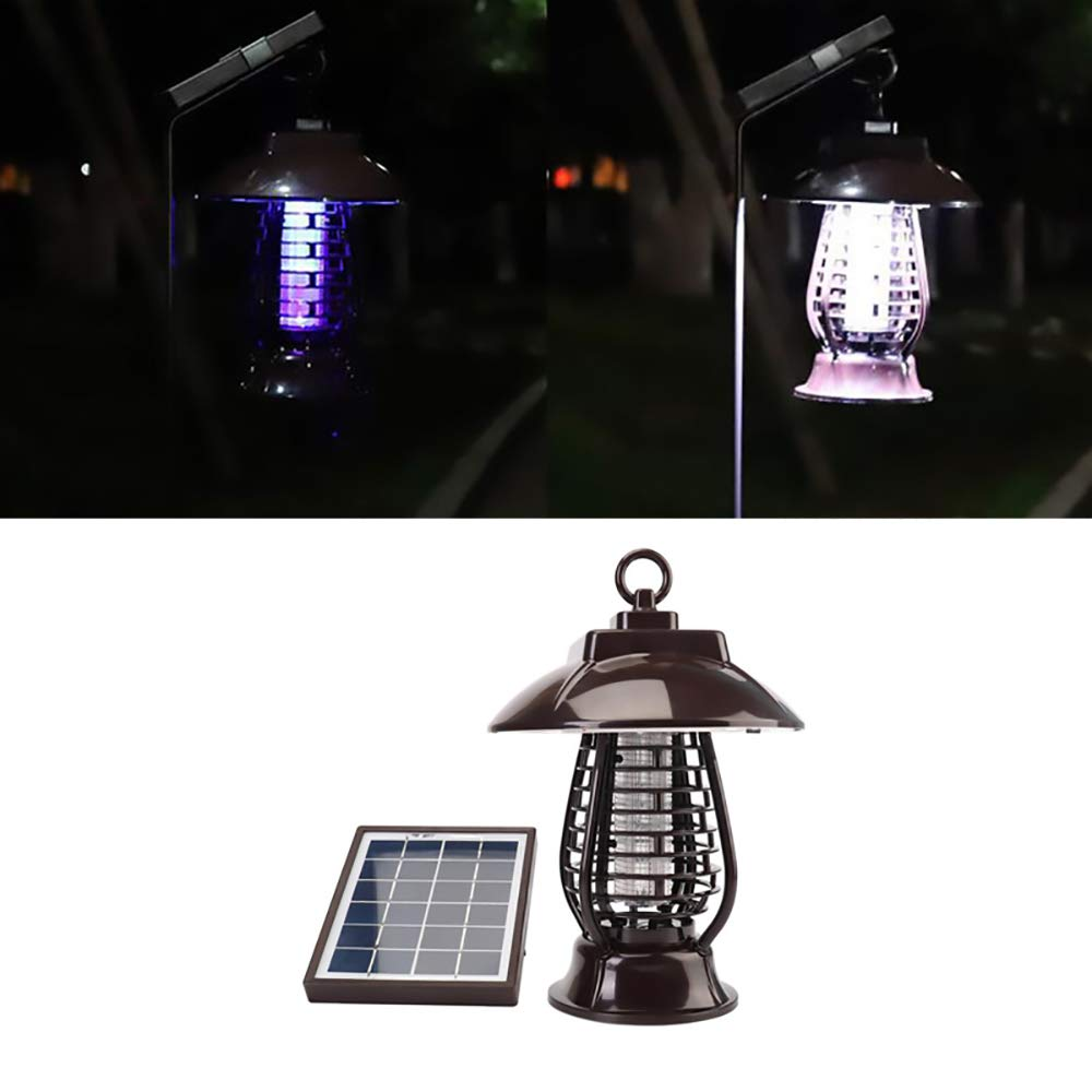 ixaer Solar Bug Zappers Light Outdoor Waterproof, Solar Mosquito Killer Light Mosquito Repeller Light Insect Killing Lamp Insect Catcher for Gardens Outdoor Places Pest Reject by ixaer (Image #3)