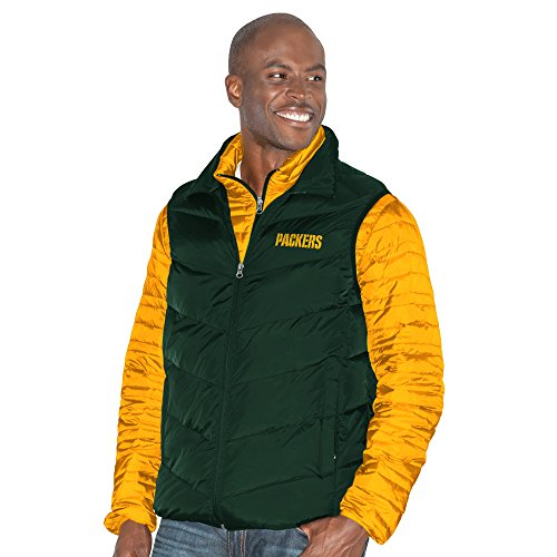 G-III Sports by Carl Banks Adult Men Three and Out 3-in-1 Systems Jacket, Gold/Green, Medium