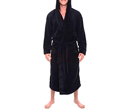 3f8236ca53 Winter Warm Bathrobe Night Gown Men s Plush Lengthened Shawl Bathrobe Solid  Large Size Home Clothes Long Sleeved Robe Coat PT at Amazon Men s Clothing  store ...