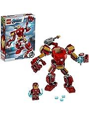 LEGO 76140 Super Heroes Iron Mans robot, Marvel Byggsats, Aktionfigur, Avengers Leksak för Barn