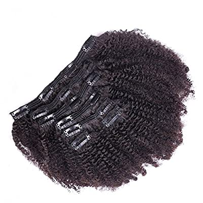 Doren Clip In Human Hair Extensions for Black Women 8Pcs 20Clips Brazilian Virgin Hair Wavy/Stragiht/Curly/Kinkys Clip Ins 100g 10-22 Inches
