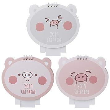 Fafalloagrron 2019 Lovely Happy Pig - Calendario de mesa de ...