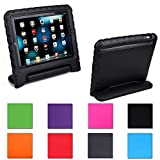 Aken Multi Function Child / Shock Proof Kids Cover Case with Stand / Handle for Apple iPad 2nd / 3rd / 4th Generation Tablet (iPad 2/3/4) (black)