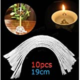 CoCocina 10pcs Glass Replacement Wick Holders Oil Candle Wicks 8 Inch Fiberglass Wick