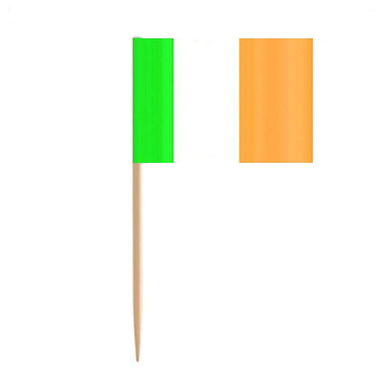 BinaryABC St Patrick's Day Decorations,Irish Ireland Flag Picks Food Toothpicks,200Pcs (Ireland)