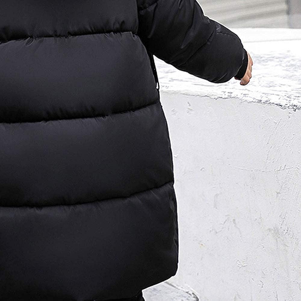 GREFER Women Fashion Winter Warm Coat Faux Fur Hooded Thick Warm Slim Jacket Long Overcoat