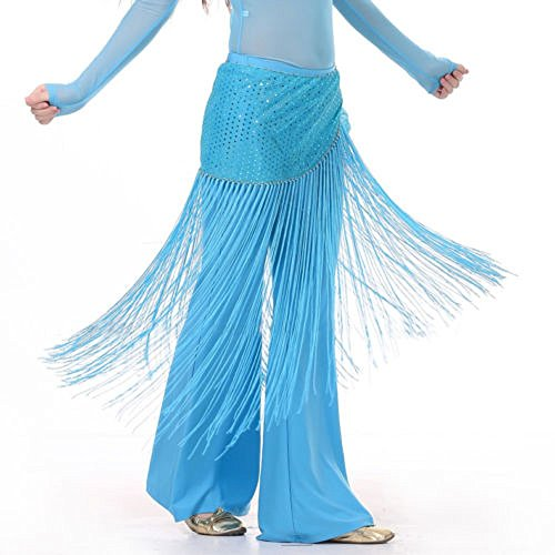 MUNAFIE Belly Dance Hip Scarf Tassel Hip Scarves Skirt Light ()