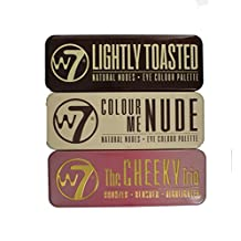 W7 Colour Me Nude, Lightly Toasted Eyeshadow Palettes & Cheeky Trio Bronzer Set
