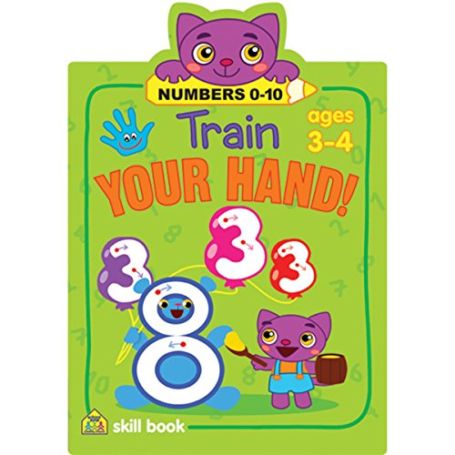 School Zone Train Your Hand Skill Book, Numbers 0-10