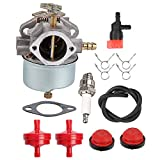 Coolwind HMSK100 Carburetor w Primer Pump Fuel Fiter Tune Up Kit for Tecumseh 632334A 632370A 632334 632370 632110 HM100 HMSK90 Toro 38555 38556 1028