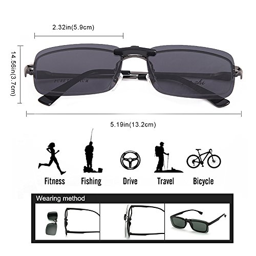 aire de gafas conducción para sol estilo recetados sol libre gafas unisex Green en Clip clip miopía de polarizado de para anteojos Buenas al pesca gafas IwRnC