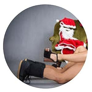 alfombrilla de ratón Striptease y el momento caliente para Santa Claus - ronda - 20cm