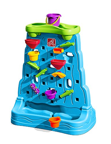 Step2 Waterfall Discovery Wall | DoubleSided Outdoor Water Play Set with 13Pc Accessory Set