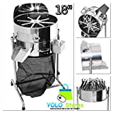 Hydroponics Bud Trimmer Hydroponic Stainless Steel 18'' Leaf System Rotor Spin Reaper 3 Speed, Flowers, Buds, Herbs & Spices By YOLO Stores
