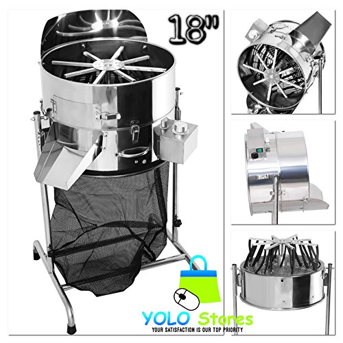 Hydroponics Bud Trimmer Hydroponic Stainless Steel 18'' Leaf System Rotor Spin Reaper 3 Speed, Flowers, Buds, Herbs & Spices By YOLO Stores by YOLO Stores