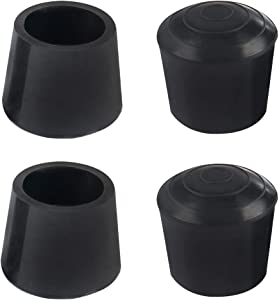 uxcell 4pcs Leg Caps Tip 20mm 3/4 Inch Rubber Furniture Feet Cover Floor Protector Anti Slip Prevent Scratches