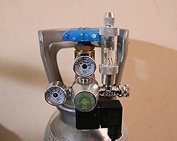 Regulador de CO2 para acuarios, con contador de burbujas e indicador de presión: Amazon.es: Productos para mascotas