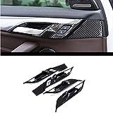 Carbon fiber For BMW X2 F47 2018 ABS Plastic Chrome Interior Door Bowl Cover Trim For BMW X1 f48 2016-2018