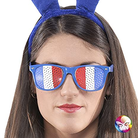 Aptafêtes AC2559 - Lunettes Supporter Tricolore France - Taille 14.5 X 4.6  cm cfc1f20bc71f