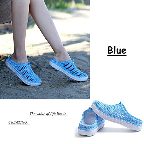 Shoes Drying Beach Quick Womens Mesh Clogs Mens Sandals Garden Slippers Blue qxTwfC4