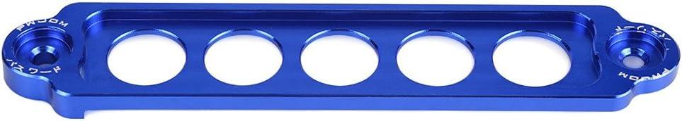 Blue Qiilu Aluminum Alloy Car Auto Battery Tie Down Brace Mount Bracket Holder Bar