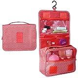 Heavy Duty Waterproof Hanging Toiletry Bag - Travel Cosmetic Makeup Organizer Bag for Women Girls Children Multifunction Travel Kit