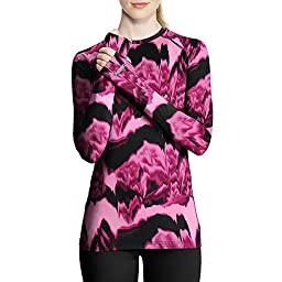 Duofold by Champion THERMatrix™ Women's Printed Crew_Marzipan Pink & Berry Delight Washy Glitch_L