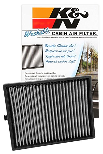 K&N VF1003 Washable & Reusable Cabin Air Filter Cleans and Freshens Incoming Air for your Hyundai Sonata, Sante Fe Kia Optima