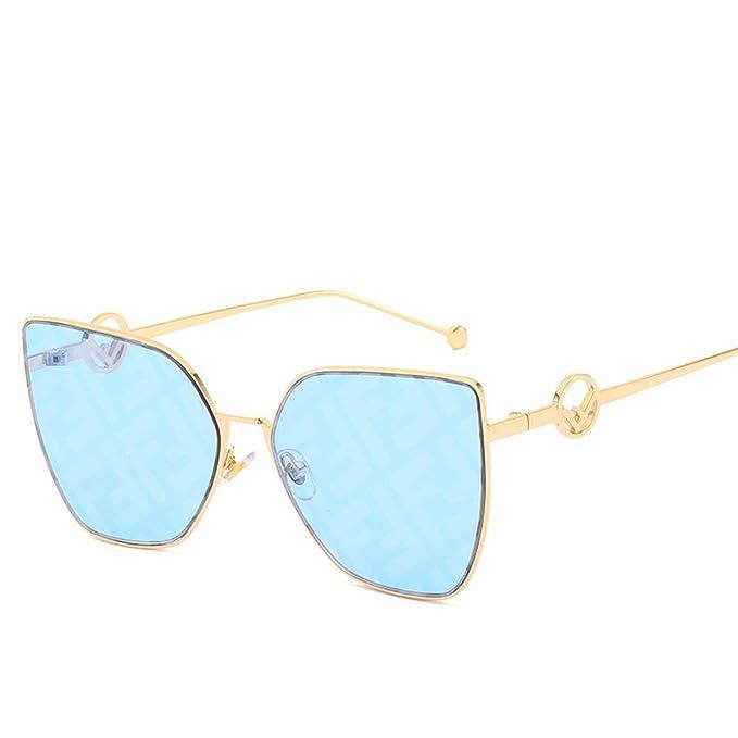 Amazon.com: Gafas de sol con diseño de letra F, protección ...