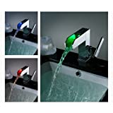 LightInTheBox Single Handle Waterfall Bathroom Vanity Sink LED Faucet, Chrome Picture