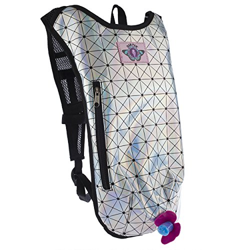 Dan-Pak Hydration Pack 2l - Holographic Disco -Perfect for raves, festivals, hiking, camping, biking, and more!