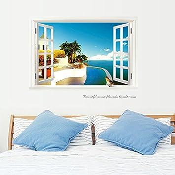 Lassen Sie Das Fenster Meerblick Zimmer Mobliert Schlafzimmer Ist