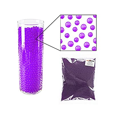 1/2 Pound Bag of Purple Water Gel Pearls Beads for Home Decoration, Wedding Centerpiece, Vase Filler, Plants, Toys, Education (Makes 6 Gallons) by Super Z Outlet®