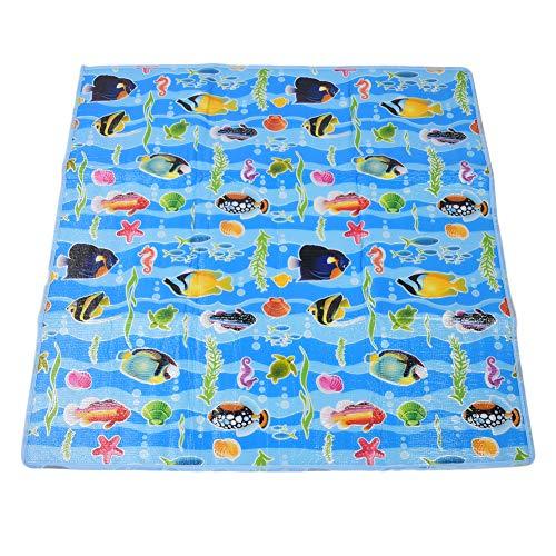 Blauwe interactieve antislip babymat, baby-speelmat, voor kinderen Interactief speelgoed Vloertapijt Speelgames
