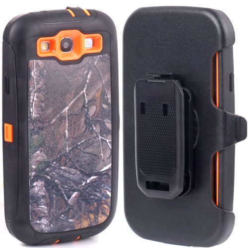 Huaxia Datacom Defender Military Hybrid Impact Case with Holster Belt Clip for Samsung Galaxy SIII S3 I9300 Fits Sprint L710, Verizon I535, At&t Wireless I747, T-mobile T999, U.s. Cellular R530 - First Class Number Tracking Usps Package