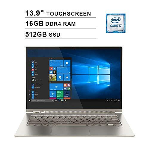 2020 Lenovo Yoga C930 2-in-1 13.9 Inch 4K Ultra HD Touchscreen Laptop (Intel Core i7-8550U, Quad Cores, 16GB DDR4 RAM, 512GB SSD, Backlit Keyboard, WiFi, Bluetooth, HDMI, Windows 10 Home) (Mica)