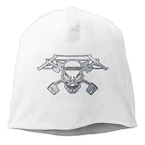 Gorras Cap Power zengjiansm Skull Lineman Stretch Knit Black Cap béisbol Hat Skull Hedging Electrician Soft Beanies Unisex OqXwdfX
